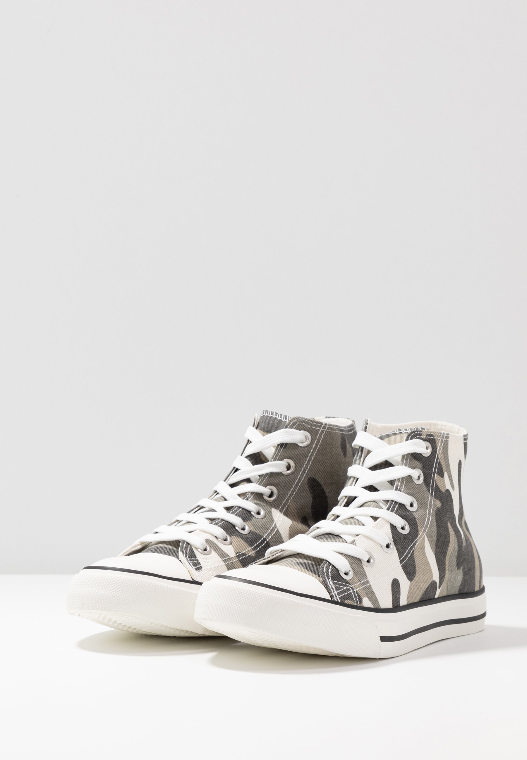 Dorothy Perkins ICONIC TOP TRAINER - Sneakersy wysokie - green