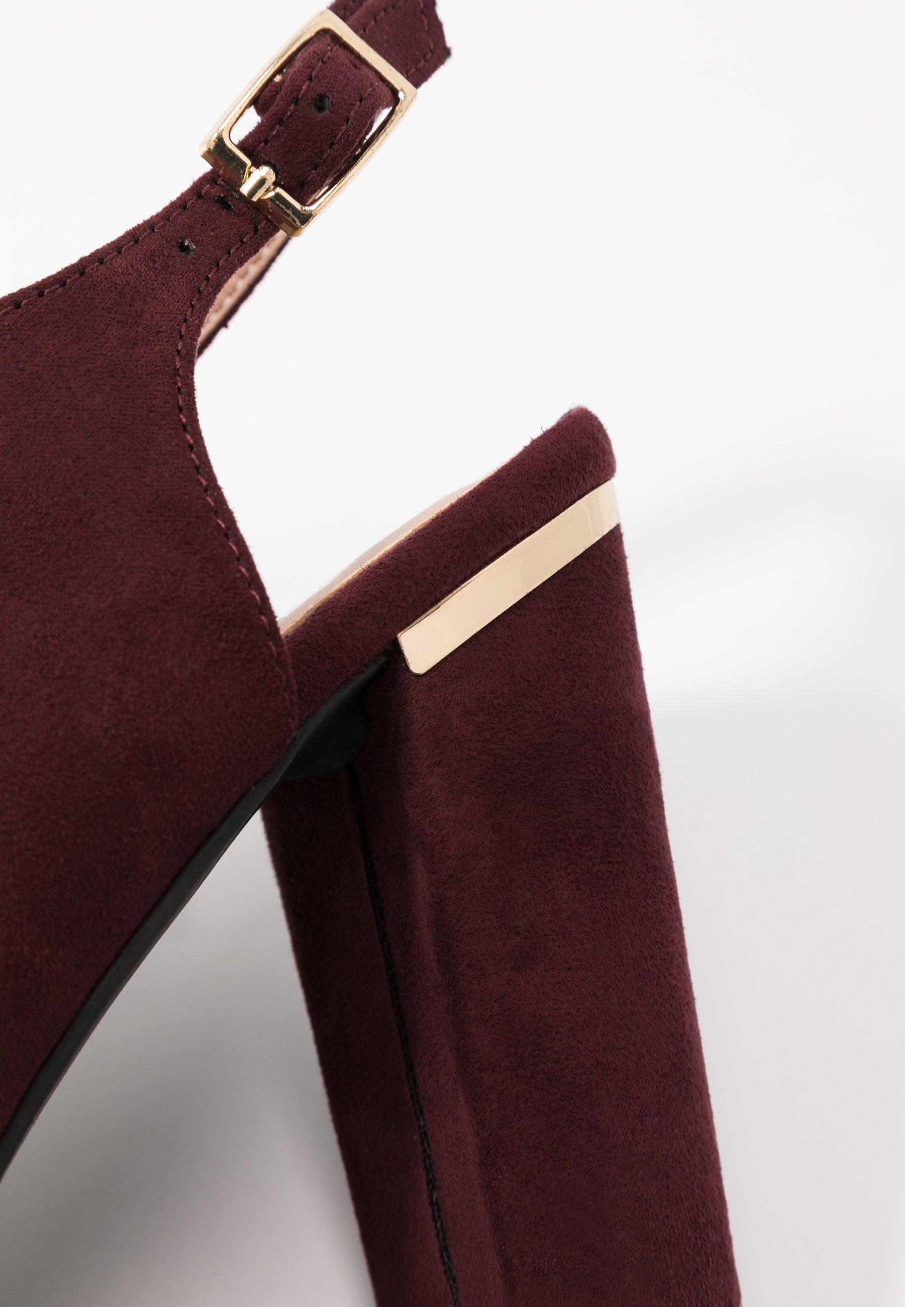 Dorothy Perkins SKYLAR Korolliset sandaalit burgundy