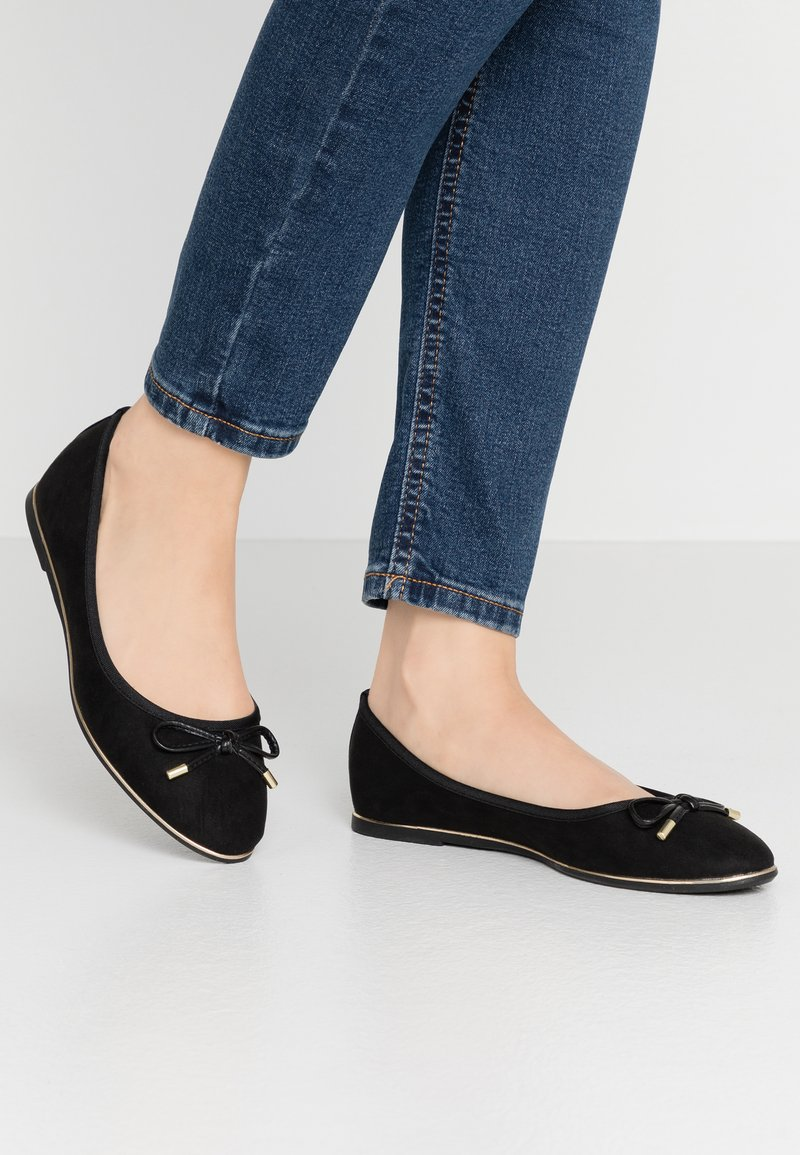 Dorothy Perkins - PARTY METAL RAND - Ballet pumps - black