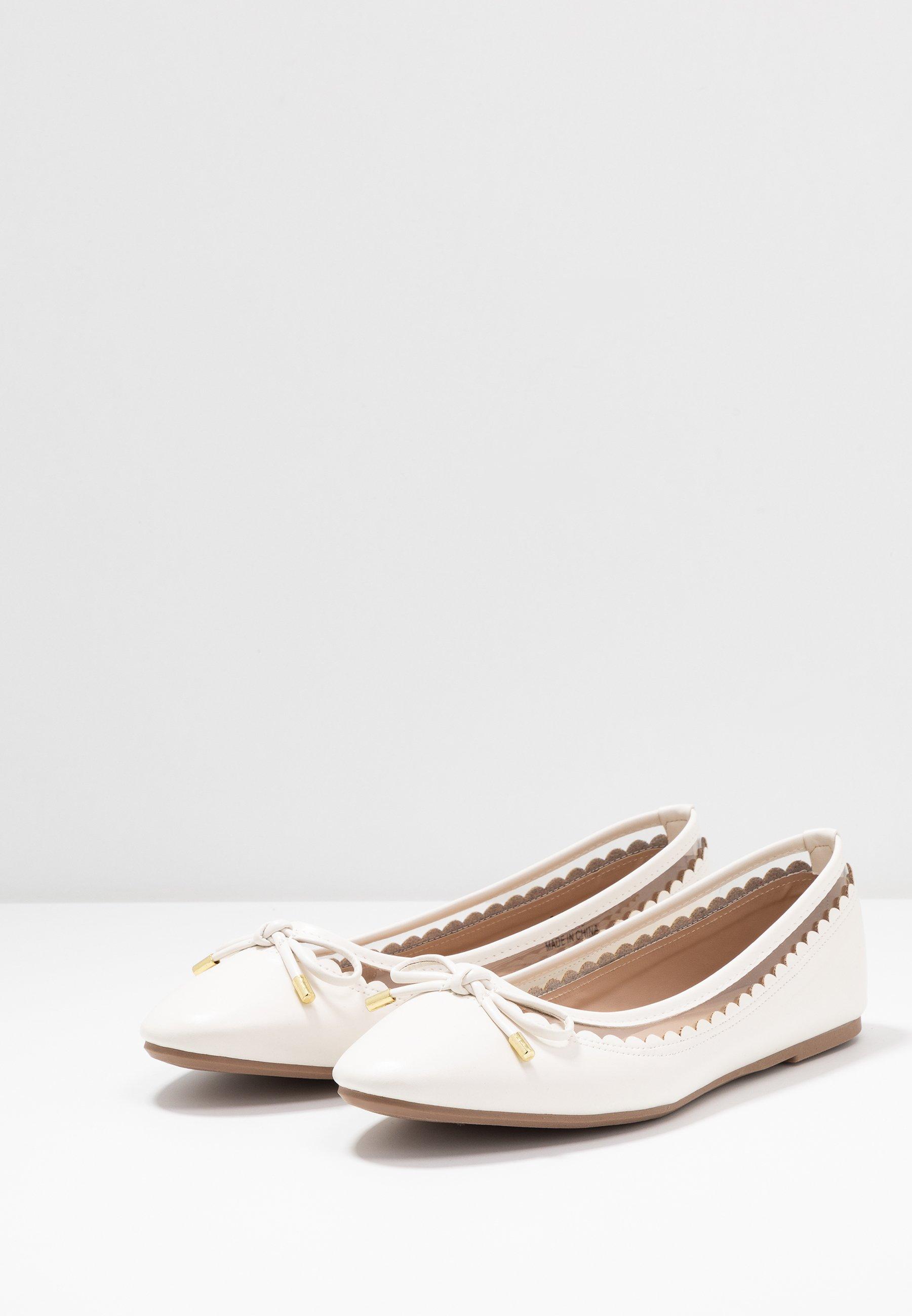 Dorothy Perkins PIPPA SCALLOP ROUND TOE  - Ballet pumps - white