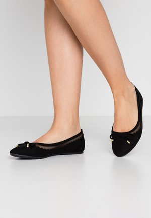 PIPPA SCALLOP ROUND TOE  - Ballet pumps - black