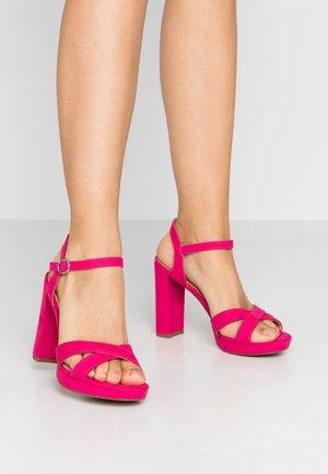 SAUCY PLATFORM  - Sandalen met hoge hak - pink