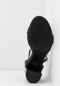 Dorothy Perkins - SHIMMER BLOCK HEEL - Sandaler med høye hæler - black - 6