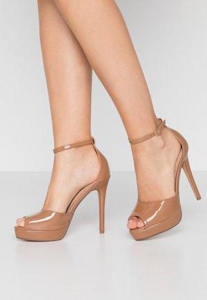 SORBET PLATFORM - Sandalen met hoge hak - nude