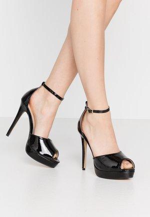 SORBET PLATFORM - High heeled sandals - black