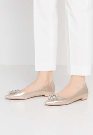 PARLOUR POINTED TRIM  - Ballet pumps - gold