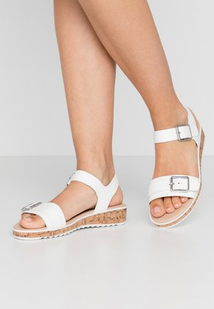 COMFORT FELIX FLATFORM  - Platform sandals - white