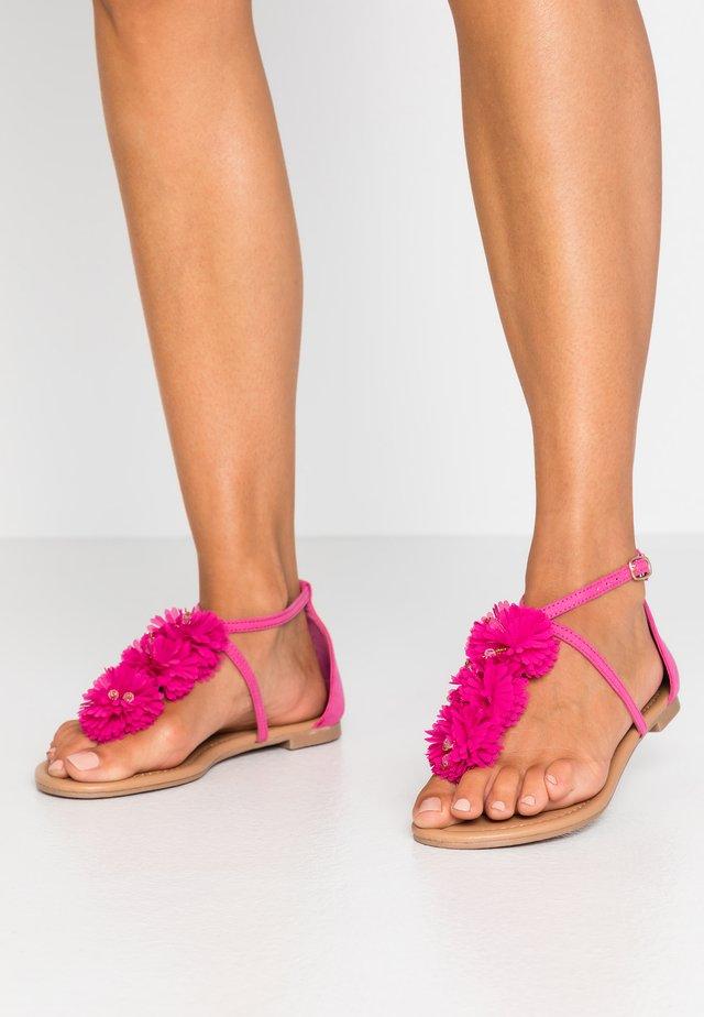 FLEURS  - T-bar sandals - pink