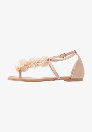 FLEURS  - T-bar sandals - nude