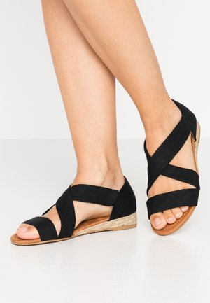 REAM CROSS OVER - Espadrilles - black