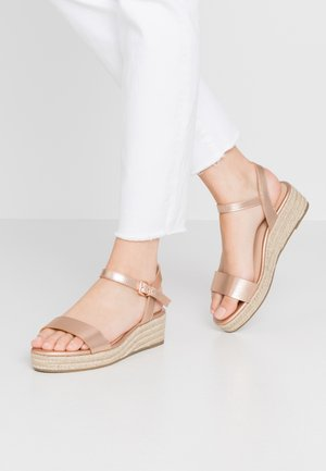 RHIANNA 2 PART - Espadrilky - rose gold