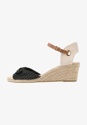ROWSE CROSS OVER MID HEIGHT  - Espadrillas - black