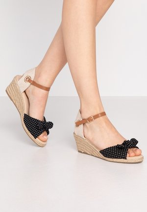 ROWSE CROSS OVER MID HEIGHT  - Espadrilky - black