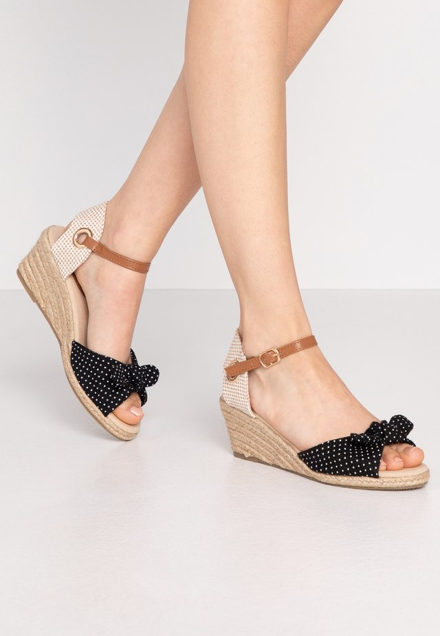 ROWSE CROSS OVER MID HEIGHT  - Espadrillot - black