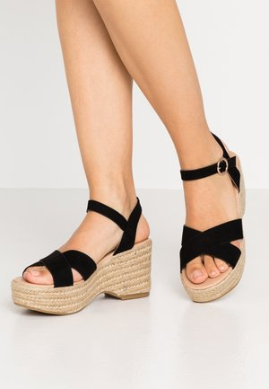 RUMBA MID HEIGHT EASY FLATFORM  - Sandalen met hoge hak - black