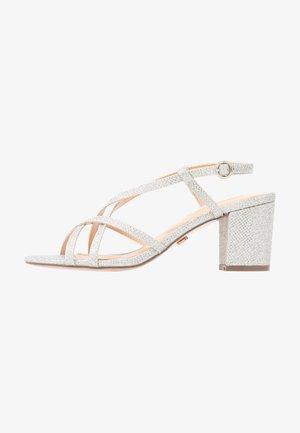 SILENCESTRAPPY BLOCK - Sandals - silver
