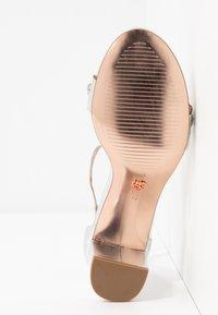 Dorothy Perkins - SOLANGE LAZERCUT BLOCK - Sandals - silver - 6