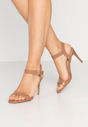 SOHO ENAMEL MINIMAL - High heeled sandals - nude