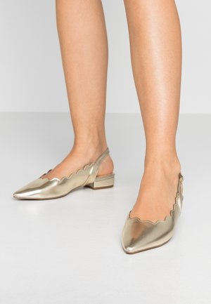 PAL SCALLOP SLINGBACK  - Slingback ballet pumps - gold