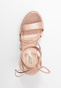 Dorothy Perkins - ROBYN ANKLE TIE GHILLIE WEDGE - High heeled sandals - rose gold - 3