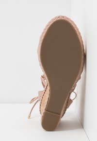 Dorothy Perkins - ROBYN ANKLE TIE GHILLIE WEDGE - High heeled sandals - rose gold - 6