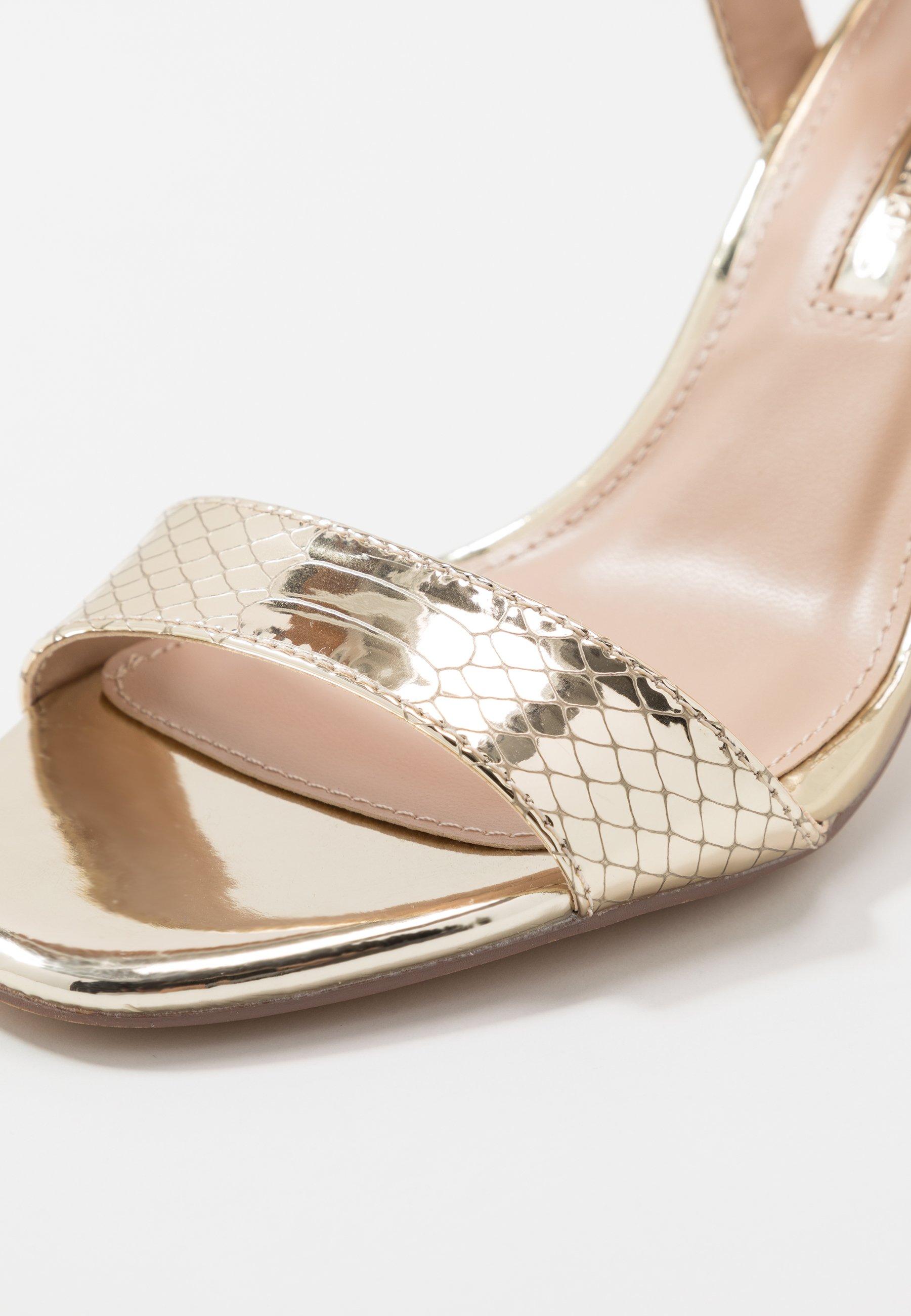 Dorothy Perkins SOHO ENAMEL MINIMAL  - High Heel Sandalette - gold cHrLgY