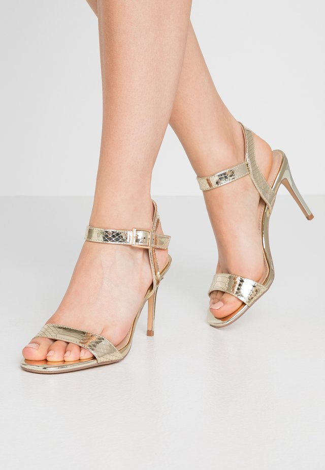 SOHO ENAMEL MINIMAL  - High heeled sandals - gold