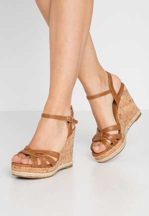 RHODA DRESSY GOING OUT WEDGE - High Heel Sandalette - tan