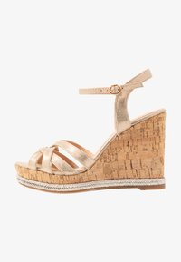 Dorothy Perkins - RHODA DRESSY GOING OUT WEDGE - Korolliset sandaalit - rose gold - 1