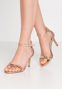 Dorothy Perkins - SLING PRETTY TRIM MID HEIGHT  - High heeled sandals - rose gold - 0