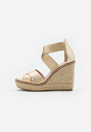 ECO REEL WEDGE - High heeled sandals - gold