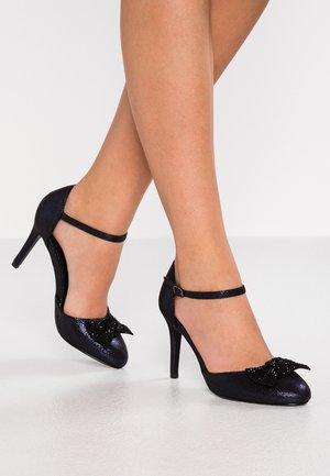 GROOVE - High heels - navy metalic