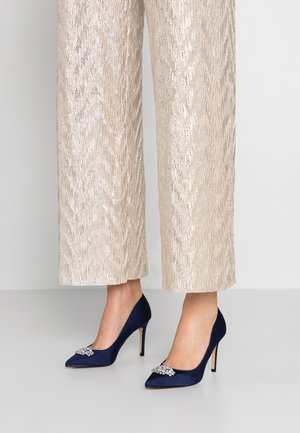 TRIM COURT SHOE - High heels - navy