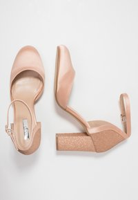 Dorothy Perkins - BLOCK GLITTER COURT - Decolleté - blush - 3