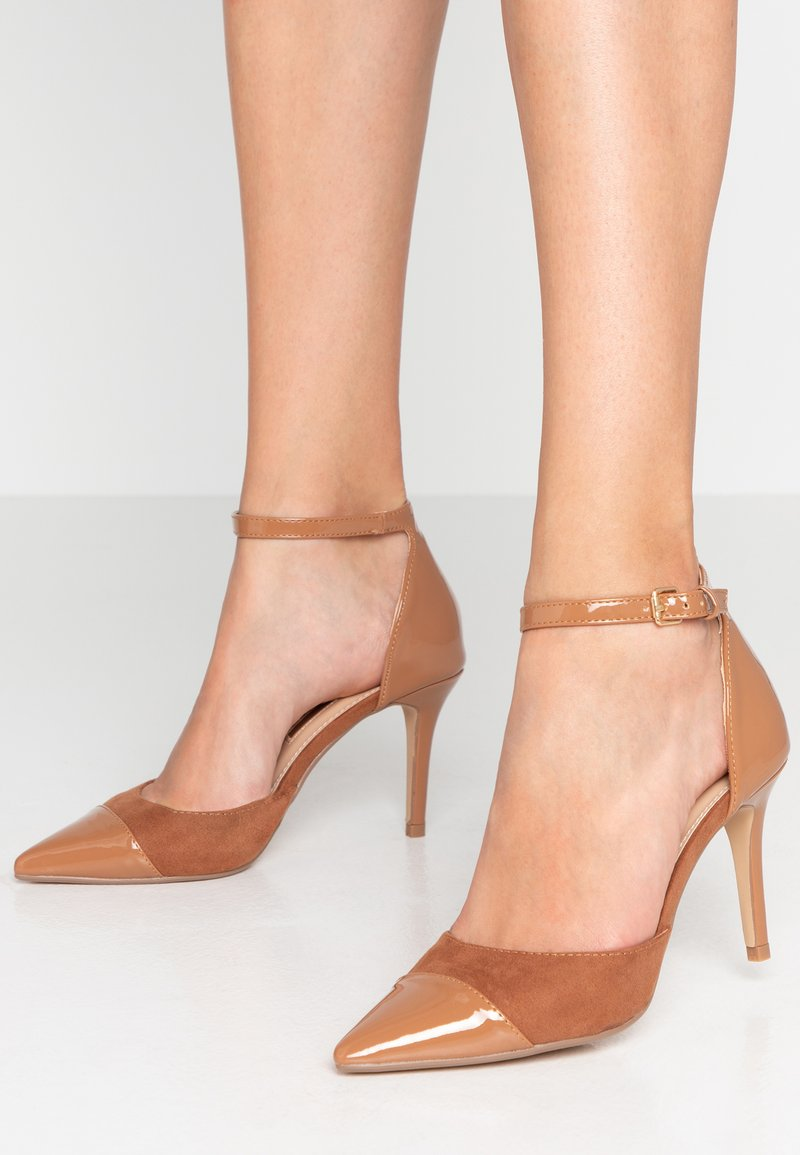 Dorothy Perkins - DEETA TOECAP TWO PART COURT - High heels - tan