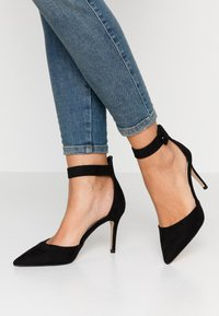 Dorothy Perkins - DANICA TWO PART ANKLE STRAP COURT - Zapatos altos - black - 0