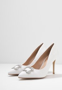 Dorothy Perkins - GLAD SQUARE COURT SHOE - High heels - white