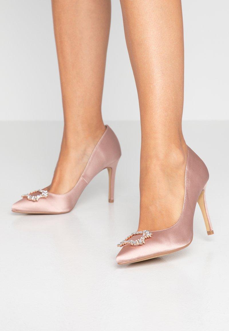 Dorothy Perkins - GLAD SQUARE COURT SHOE - High heels - blush