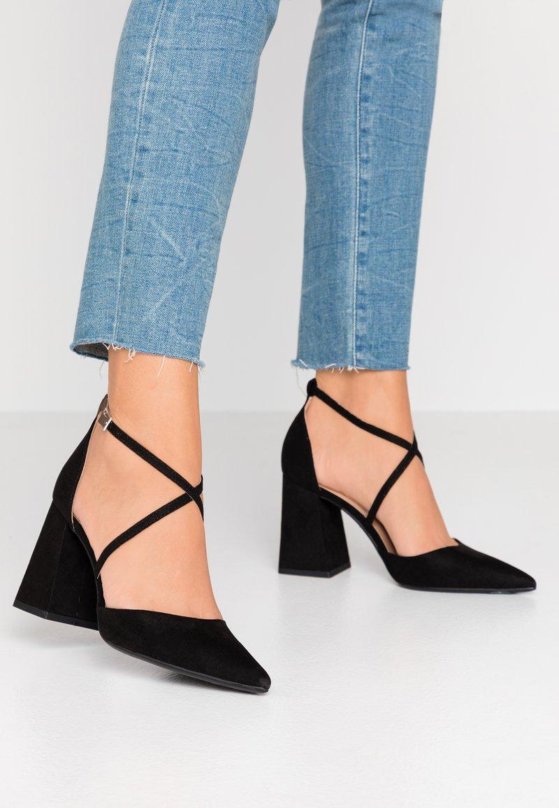 Dorothy Perkins - DARIA CROSS STRAP BLOCK COURT - High heels - black