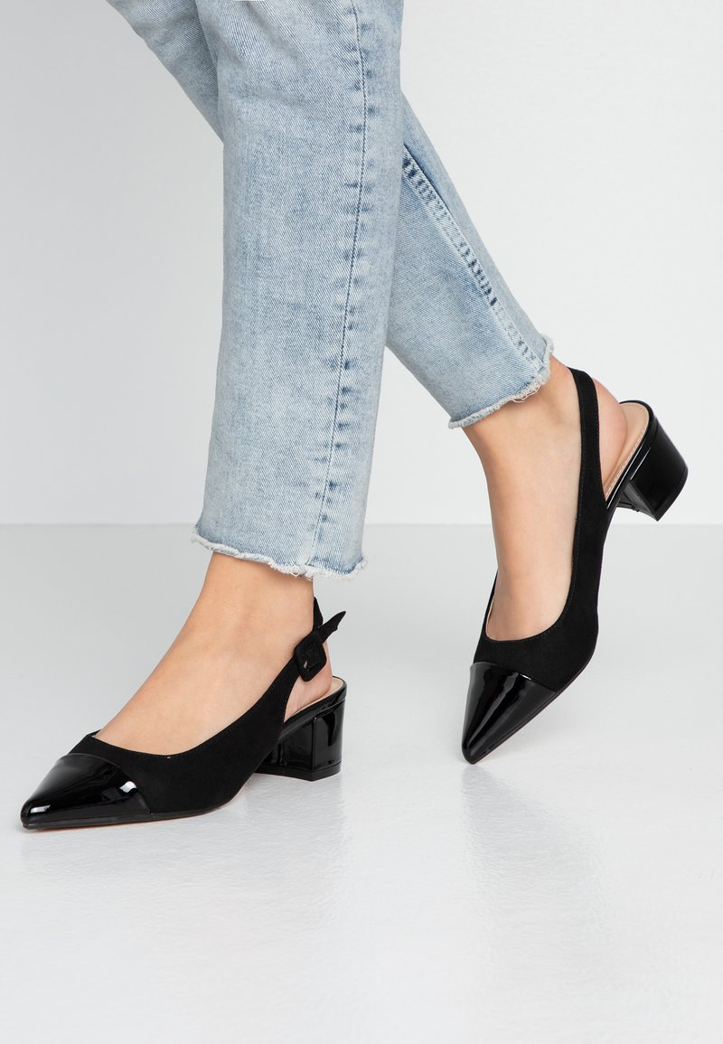 Dorothy Perkins - DARLING SLING BACK BLOCK HEEL COURT - Classic heels - black
