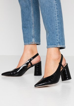 DISTRICT VAMP CYCLINDER SLINGBACK COURT - Escarpins à talons hauts - black