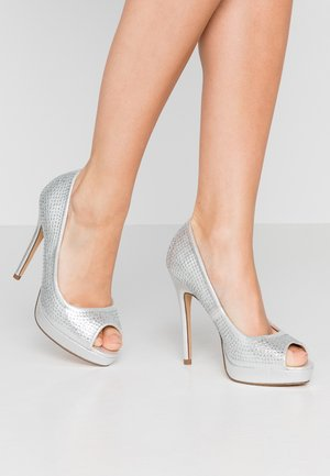 GIFTIE ALL OVER COURT SHOE - Peeptoes - silver