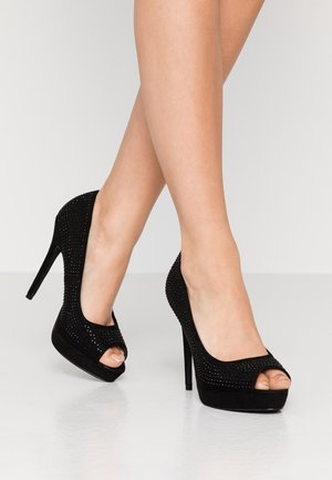 GIFTIE ALL OVER COURT SHOE - Talons hauts à bout ouvert - black