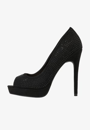 GIFTIE ALL OVER COURT SHOE - Peeptoe heels - black