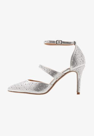 GINGERA ALL OVER TRIM COURT SHOE - Hoge hakken - silver