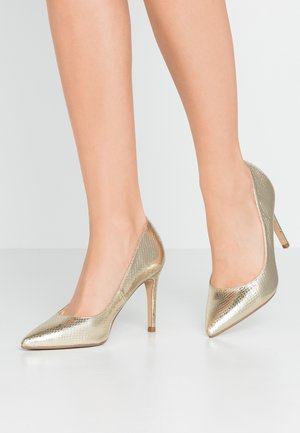 DELE POINT COURT - Klassiska pumps - gold