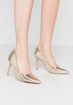DELE POINT COURT - Zapatos altos - gold