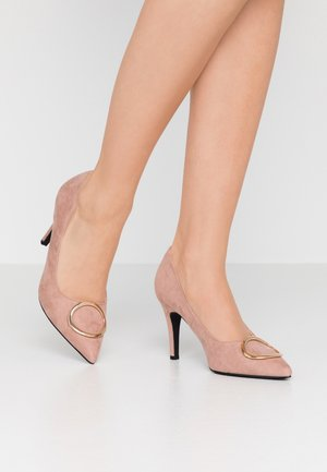EMMY RING STILETTO COURT - Høye hæler - blush