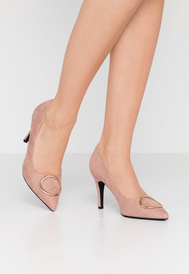 EMMY RING STILETTO COURT - High heels - blush
