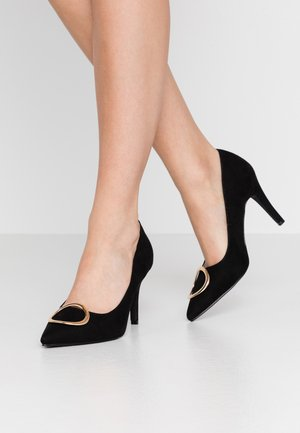 EMMY RING STILETTO COURT - Korolliset avokkaat - black